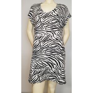 Z Supply Zebra Print Dress, M NWT